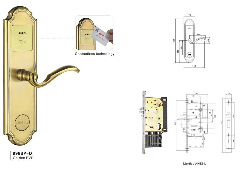 Swipe Card Door Lock,card Digital Door Lock,electronic Hotel Lock Price