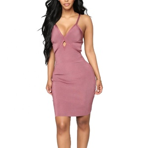 Ladies Dress Names Pink Sexy Evening Party Bandage Dresses For Women