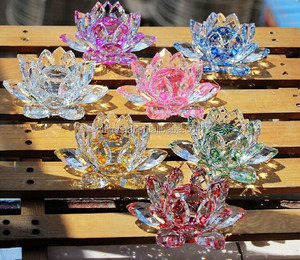 Flower Lotus Crystal Decoration Ornament Gifts MH-LP079
