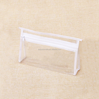 Wholesale cheapest custom tote design ladies clear pvc cosmetic/makeup bag