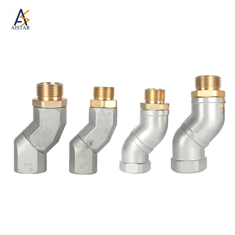 """New 360 Degree BSPP 1/"""" Male to 1/"""" Female fuel Swivel Hose universal joint"""