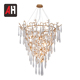 Art design multi crystal drops G9 bulb shaped pendant lamp hanging light