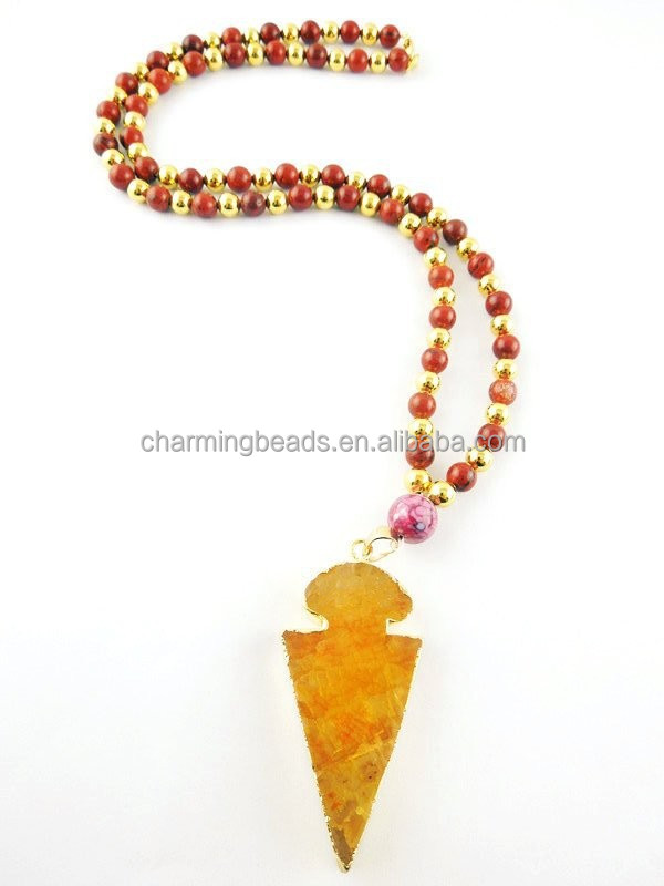 Ch-lsn0151 Beaded Necklace Jewelry,Arrowhead Pendant Necklace ...
