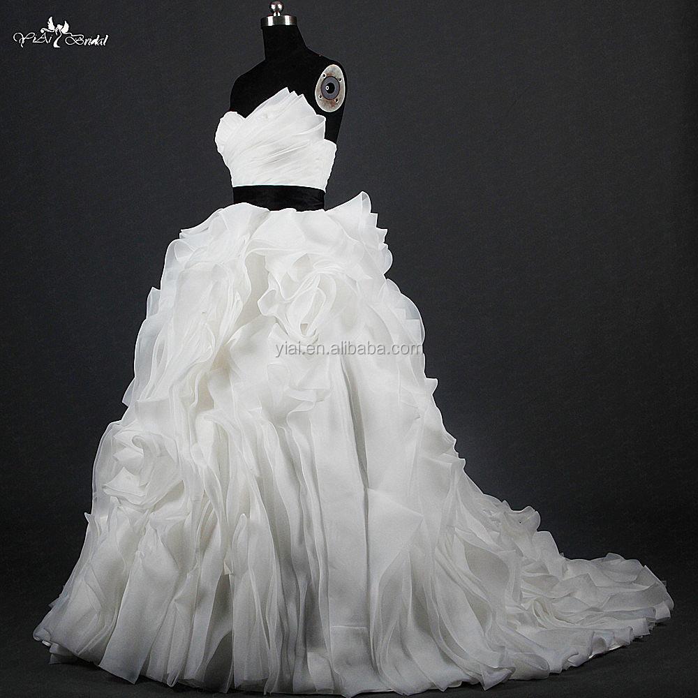 Großhandel brautkleid schwarz weiß Kaufen Sie die besten brautkleid ...