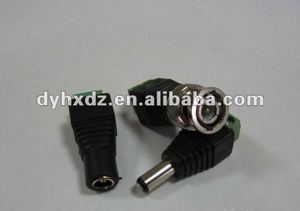 RCA CAT5 DC female jack BNC male plug to 2 screw terminal