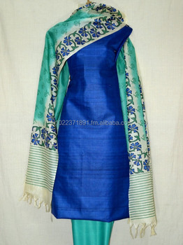 2b31a53f72 Tussar Silk And Jute Silk Salwar Kameez Material - Buy