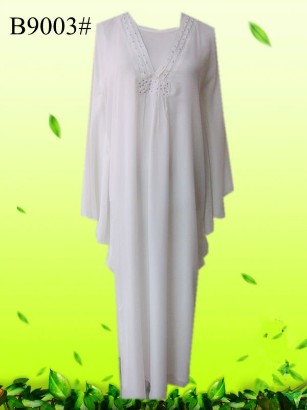 Muslim dress Robe stylish elegant white butterfly abaya designs