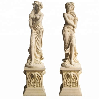large female young nude girl sandstone garden statue