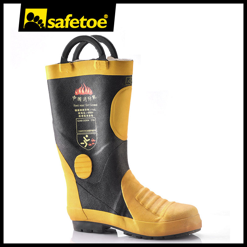 Firefighting rubber boots