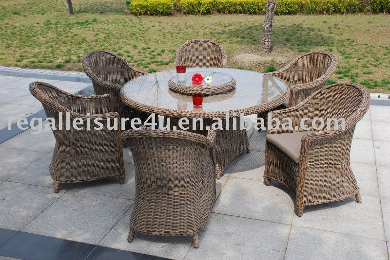 product gs sell pcs outdoor patio wicker rattan dinning sets table with lazy susan