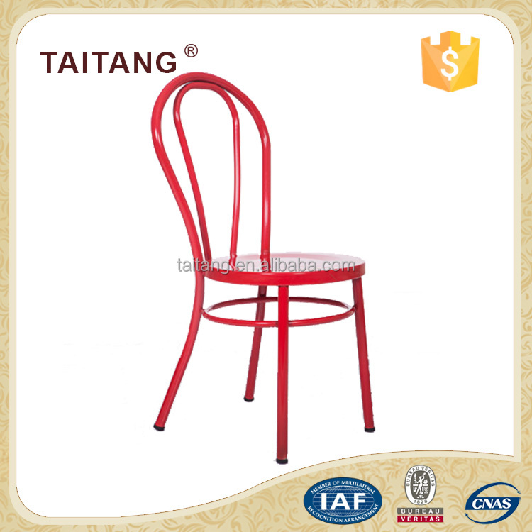 Stacking iron dining chair restaurant chair