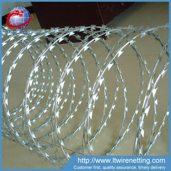 anping supplier flat/cross concertina razor barbed wire tape