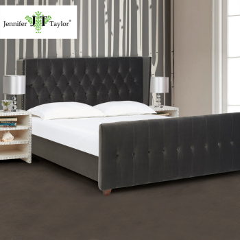 design moderne meubles tissu chambre mobilier design t te de lit lit ensemble avec pied haut. Black Bedroom Furniture Sets. Home Design Ideas