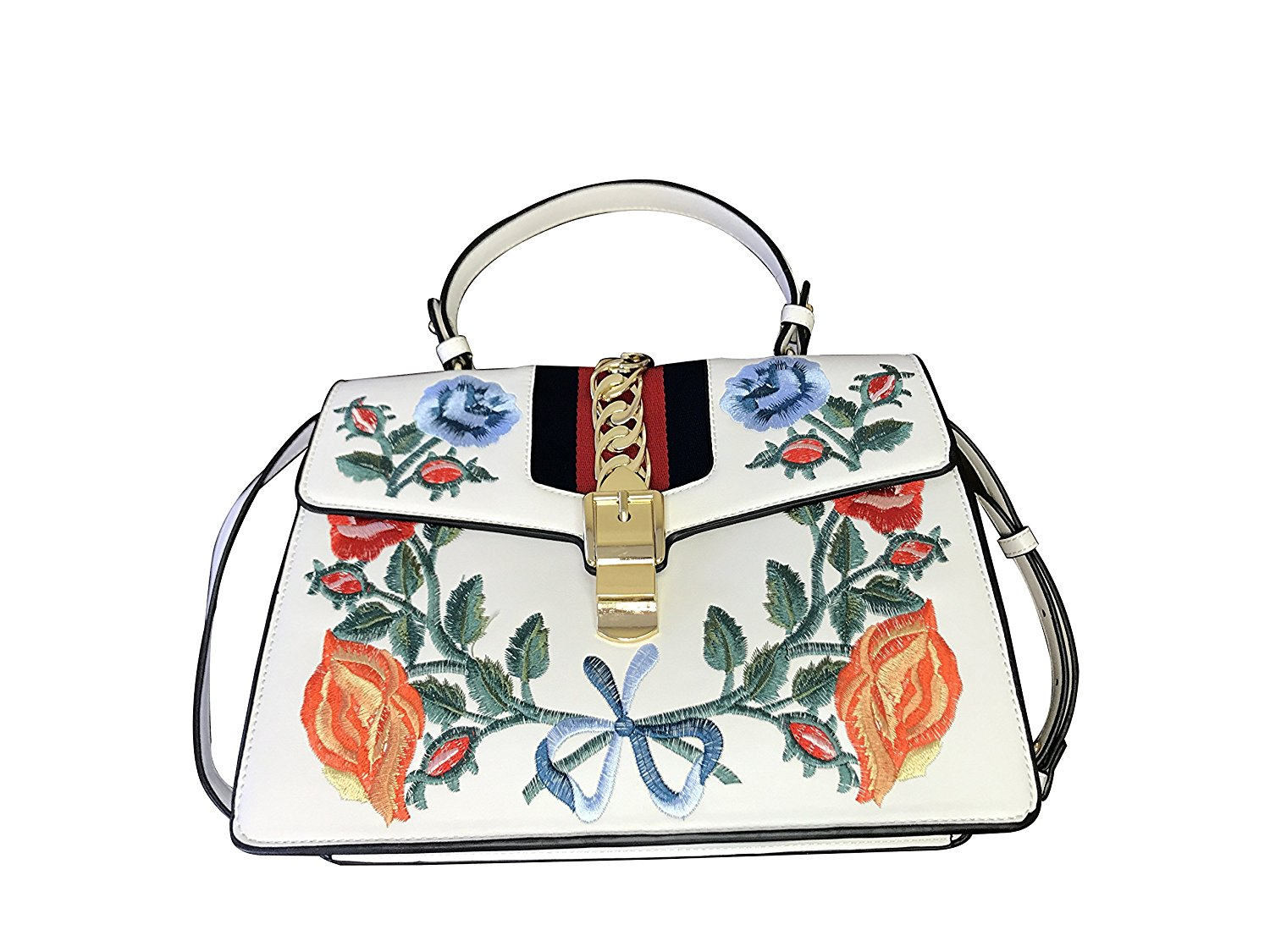 202db64af6f2 Get Quotations · Roses & Bows Embroidered Top Handle Inspired By Inzi  Handbags