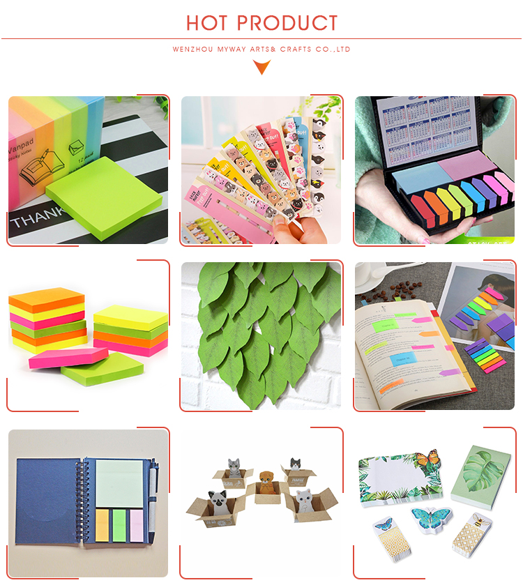 Colorful Sticky Notes Set Pet Page Marker Custom OEM Printed Plastic Cute Sticky Notes Pad