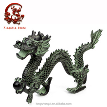 Indoor Decorative Casting Bronze Dragon with Pearl in Hand