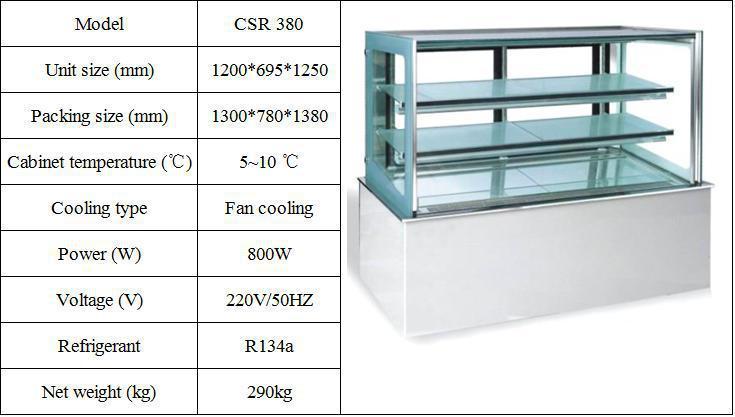 Upright Marble Bakery Freezer Pastry Display Refrigerator