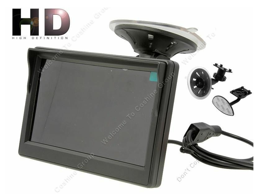 "5"" HD HD 800*480 Digital Panel Car Rear View Monitor With Bracket 2 Video Input"