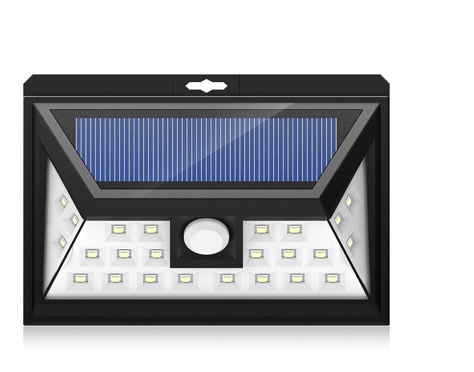 24LED Solar Light, Cool White Security Lighting Outdoor Motion Sensor Lamp  For Parking Lot