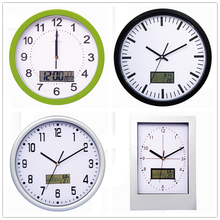 12 Inch plstic Radio Controlled Wall Clock word Time Clock