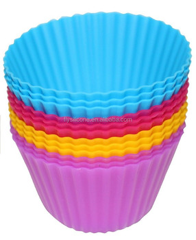 Silicone Baking Cups Cupcake Liners Muffin Molds Set Of 12 With