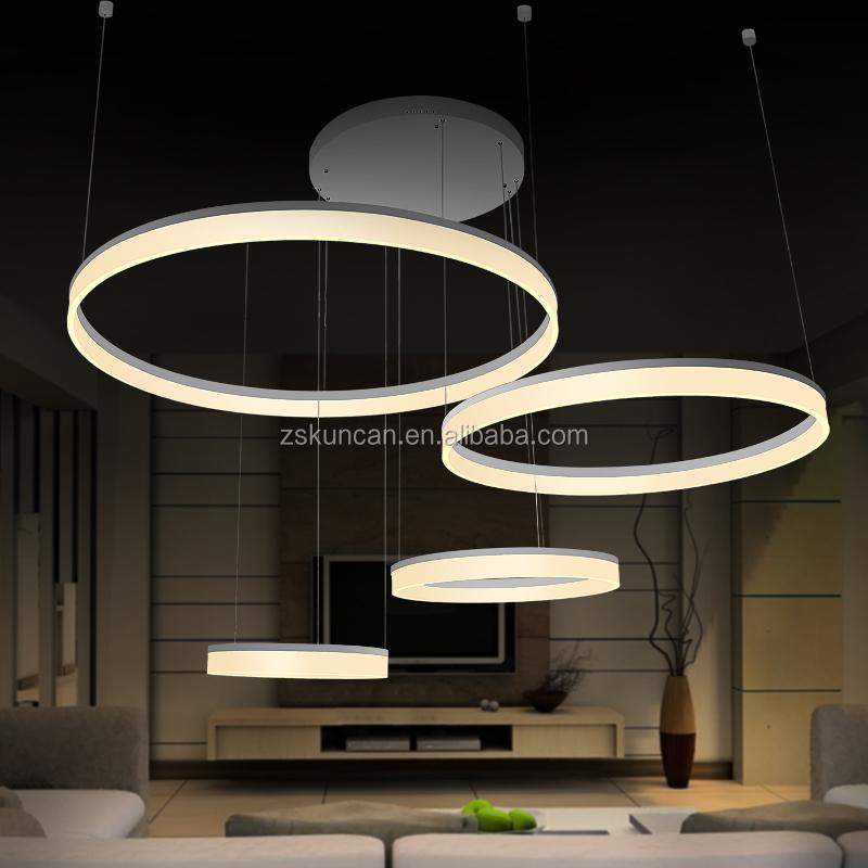 Design contemporain acrylique anneau LED lustre pour hall-Lustre-ID de ...