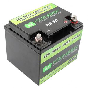 LIFEPO4 12v 50ah Battery Pack in abs plastic box with built-in BMS
