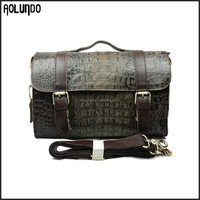 Fashion Trend Bags Women Crocodile Leather Vintage Handbag