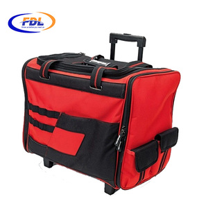 Line top roller rolling trolley tool bag for plumbers 2017 wholesale durable tool bag with wheels