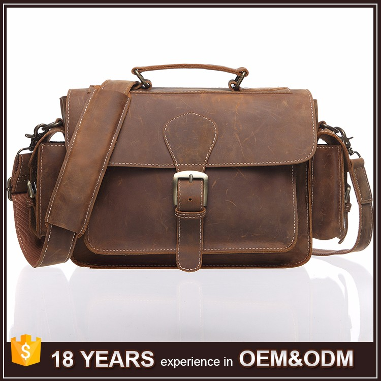 Wholesale Leisure Style Vintage Genuine Leather Tote Bag for Men