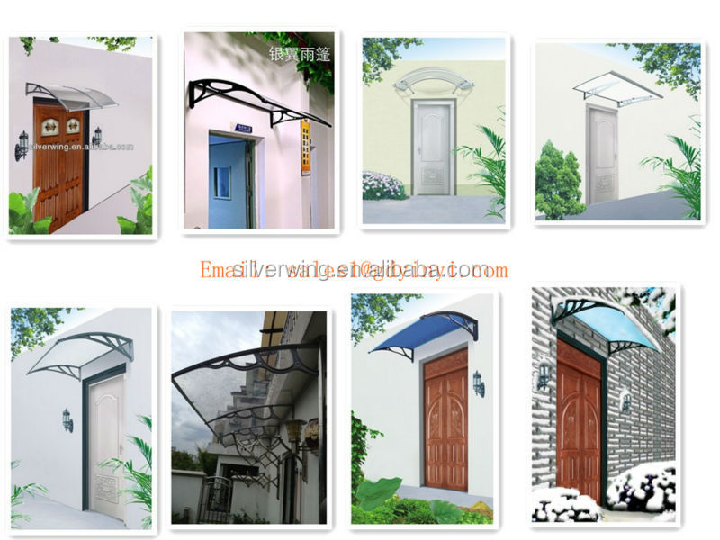 Sensational Euro Design Outdoor Polycarbonate Diy Awning Canopy Plastic Largest Home Design Picture Inspirations Pitcheantrous
