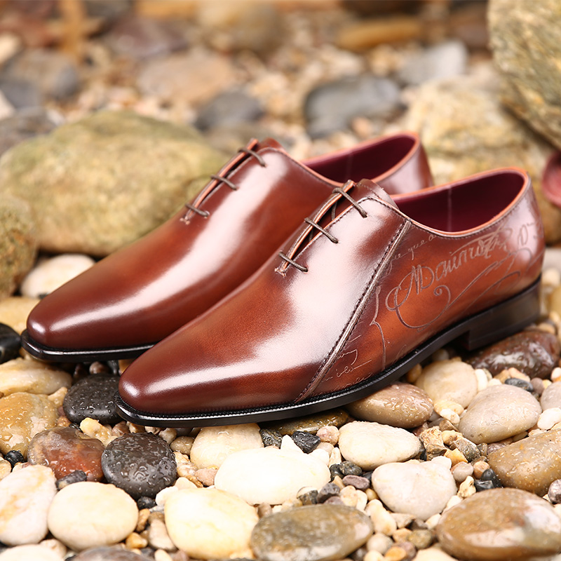 TERSE mens dress shoes Italian custom designer Oxford shoes handmade genuine leather footwear wholesale price