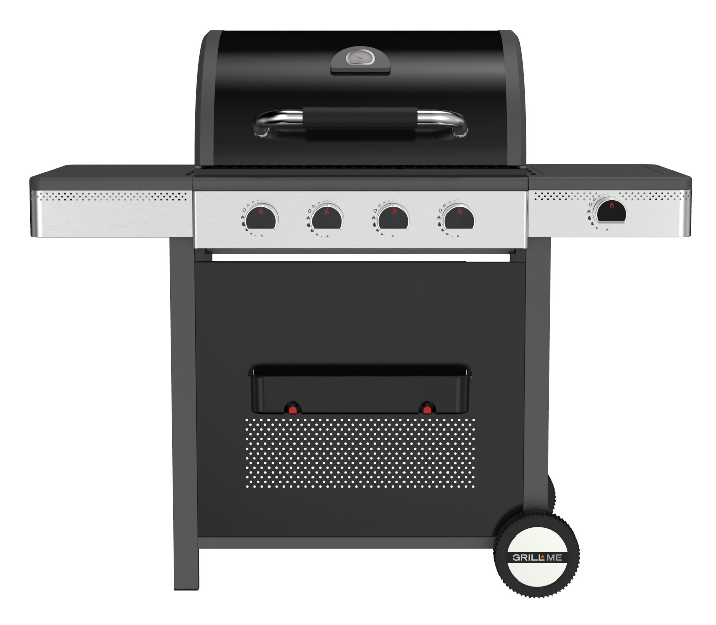 4 BRANDERS EN SIDE BRANDER GAS BARBECUE PLANCHA GRILL