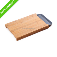 Square Bamboo Vegetable Cutting Board with Drawer