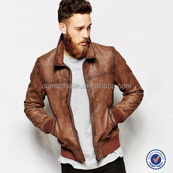 Leather Jacket Bomber Jacket For Men Motorcycle Jacket - Buy ...