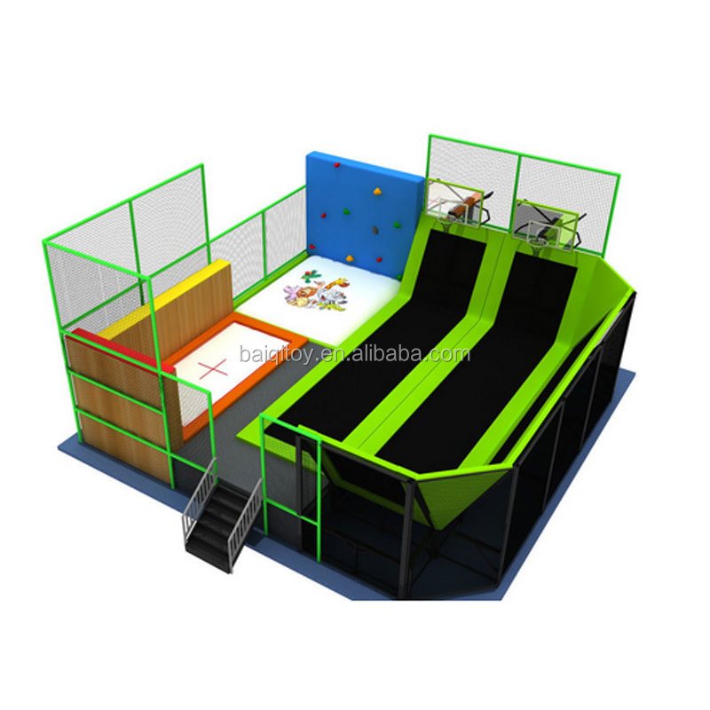 Customized Amusement Indoor Trampoline Park with Many Games 14ft trampoline tent