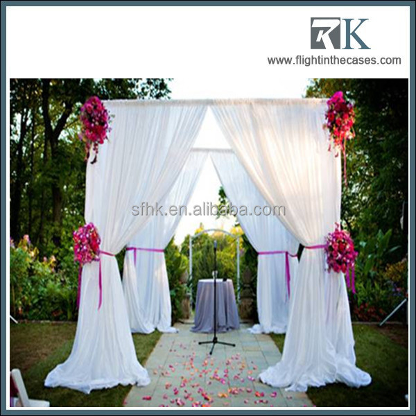 China wholesale pipe and drape wedding stage portable backdrop stands