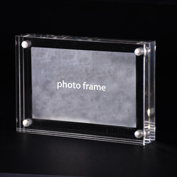 Plastic Acrylic Block Frames 4x6 Double Sided Magnet Photo Frame