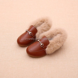 New fashion children winter leather shoes new warm kids winter shoes girl