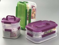 1.6L China Factory heat resistance easy lock food container