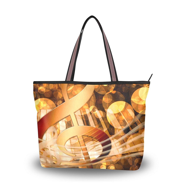 WIHVE Women's Shoulder Bag Satchel Handbags Music Travel Tote Purse