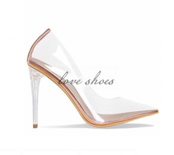f12eab1897c New model girls Nude Clear Stiletto Court Shoes clear perspex heel sandals,  View girls Court Shoes, OEM&ODM Product Details from Chengdu Love Shoes ...