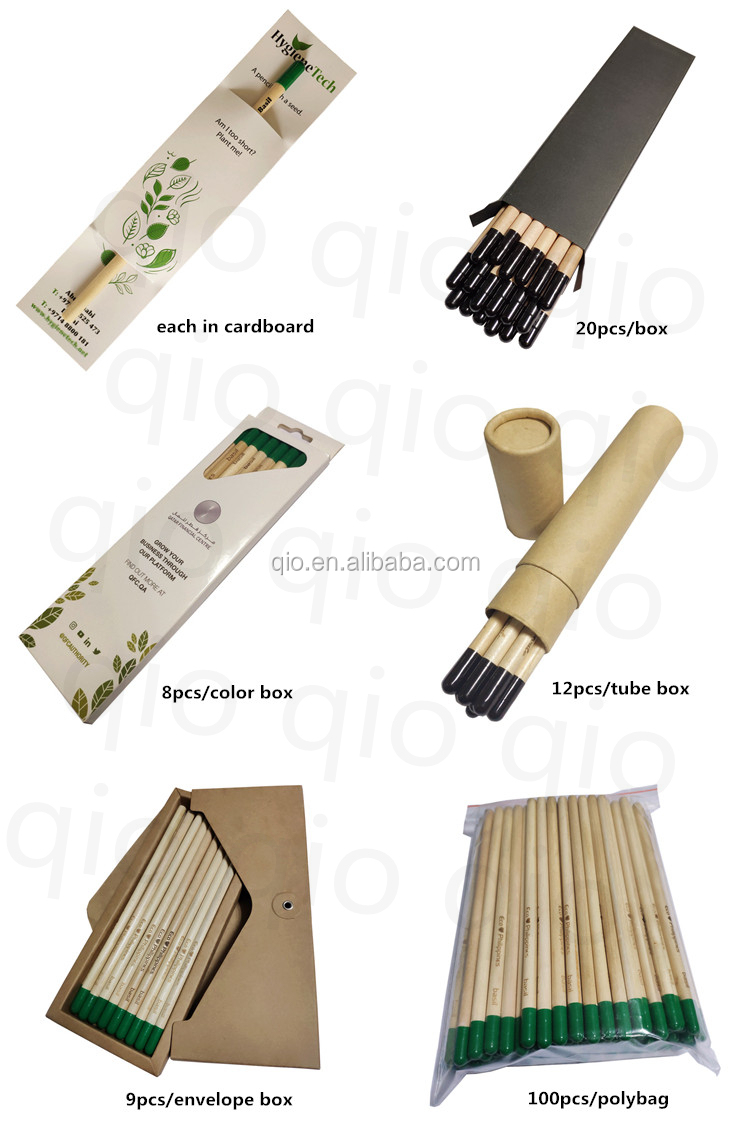 100% sustainable seed pencil plantable pencil and customize pencil with seeds