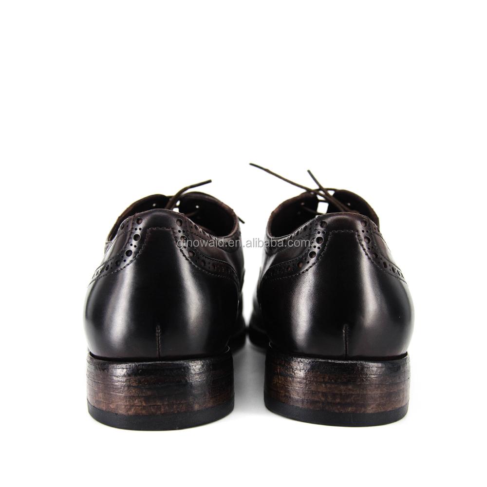 High genuine leather brand names quality shoes handmade mens material BPOqTBWYwr