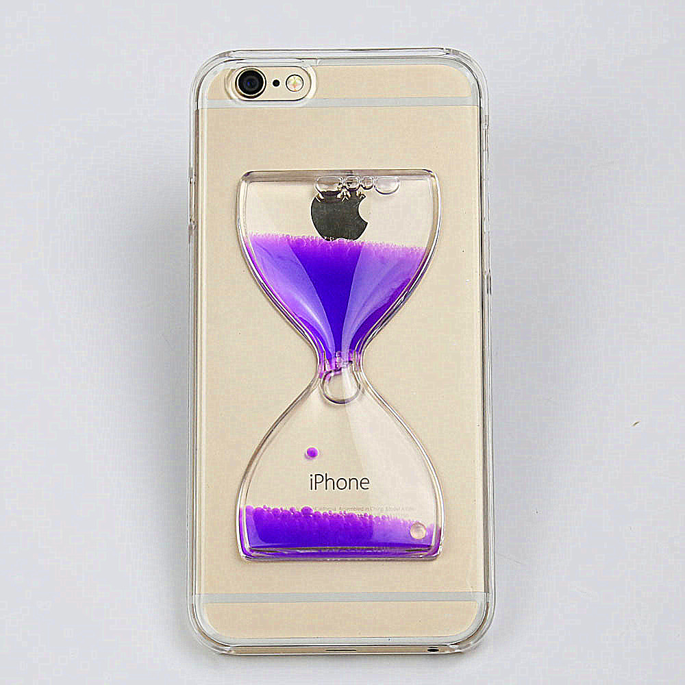 For Xperia Z5 New Products Hourglass Liquid Quicksand Cover Colorful Clear Transparent Phone Case
