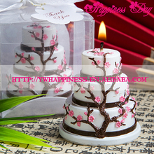 Popular Cherry Blossoms Candle Birthday Party Decoration Wedding Favors Wedding souvenirs