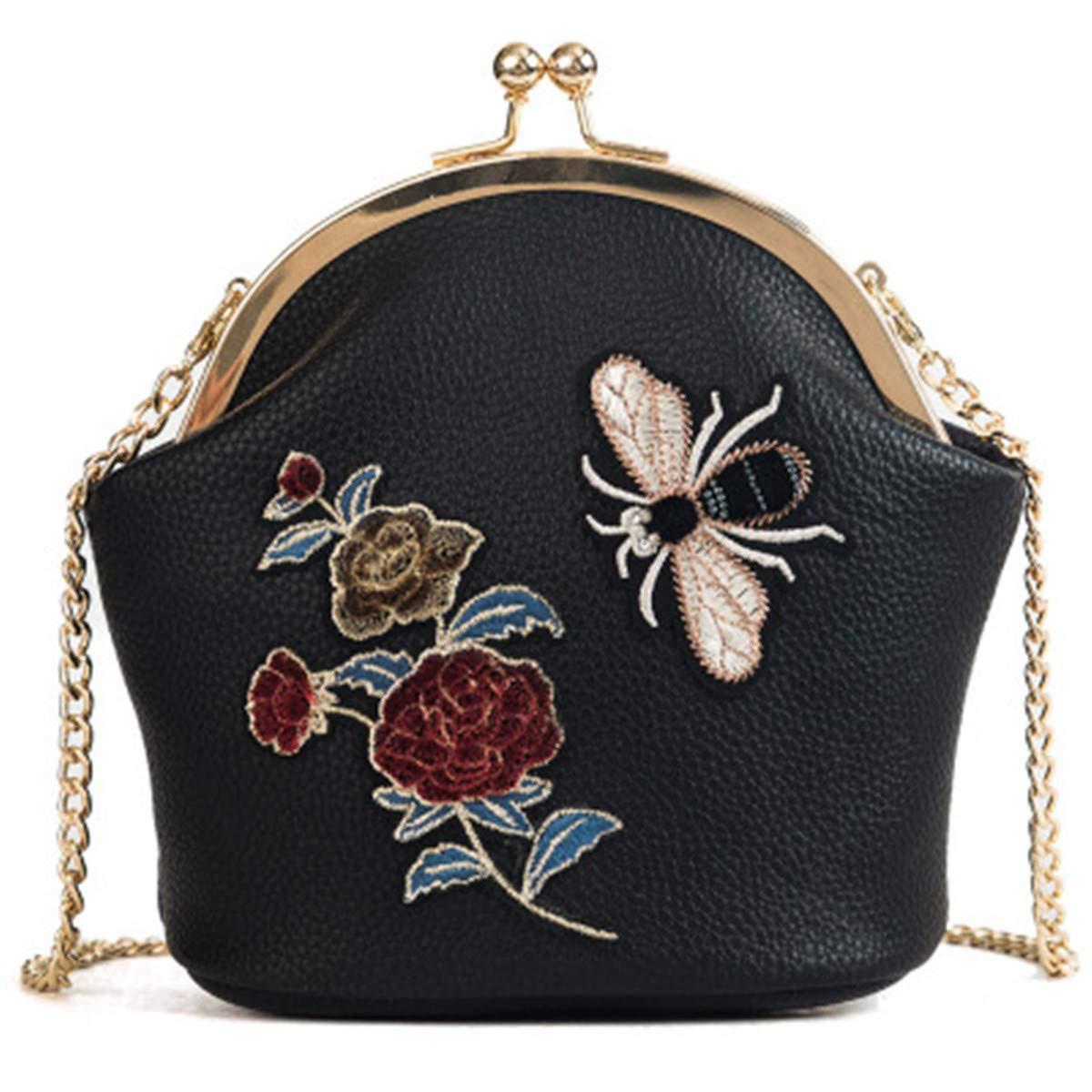 Get Quotations · BeautyWJY Women s Vintage Flower Evening Clutch Bags  Wedding Purse Party Handbags 7c0007b38f64