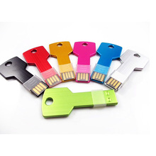 Custom 1/2/4/16/32/64 gb usb stick antique security metal key shape 8gb usb flash drive