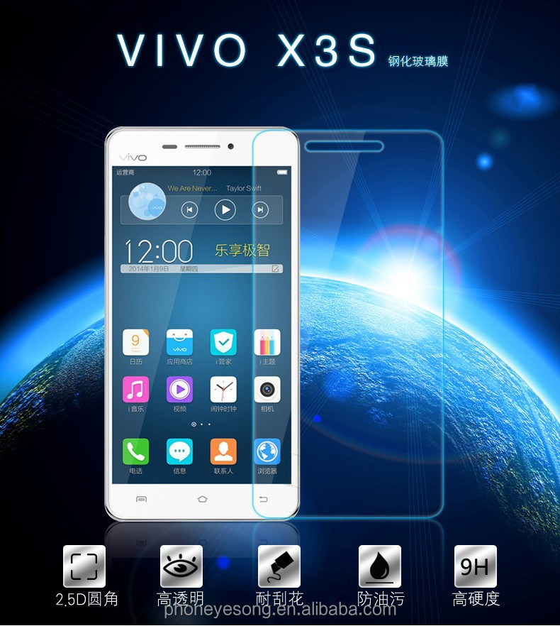 Factory price mobile phone Tempered Glass Screen protector/film for VIVO X3S