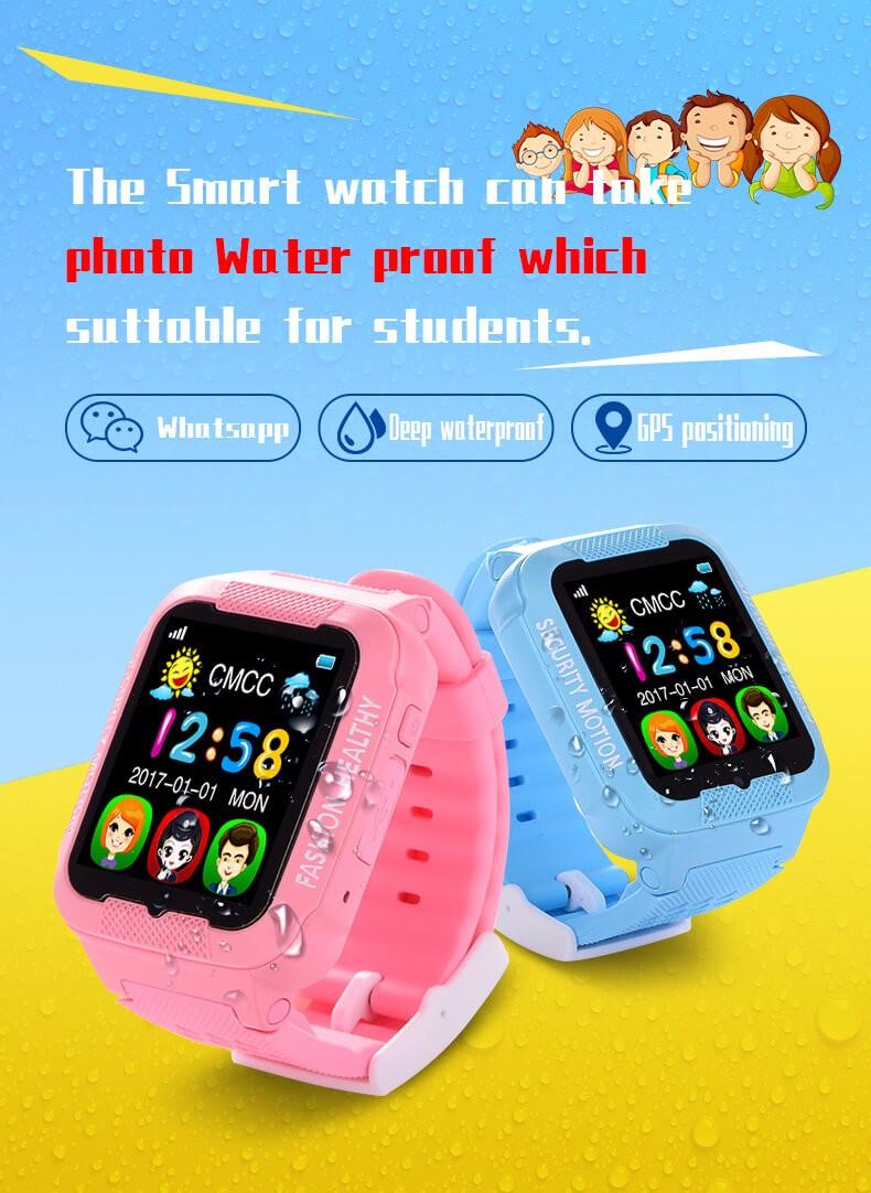 Makibes K3 Kids Gps Watch Mtk2503 Touch Screen Deep Waterproof Google Map Sos Button Watch For